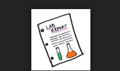 chemistry lab write up example